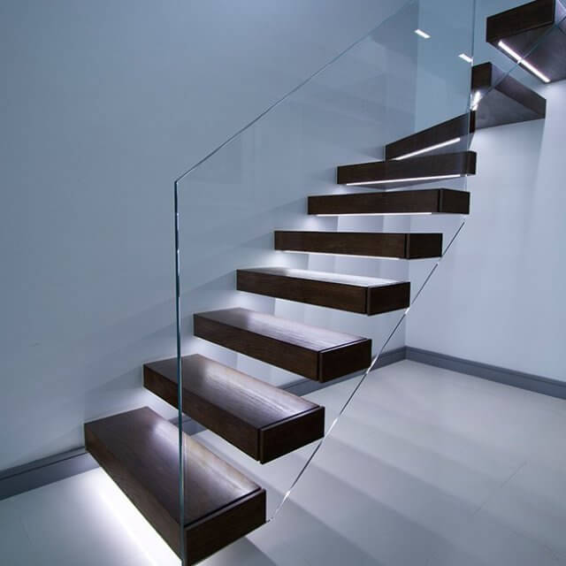 Modern Staircases Zigzag Helical Stairs Floating Staircase UK