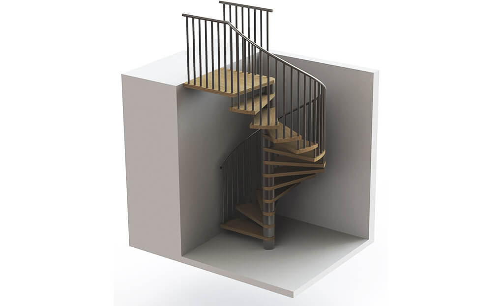3D Floating Render Stairs