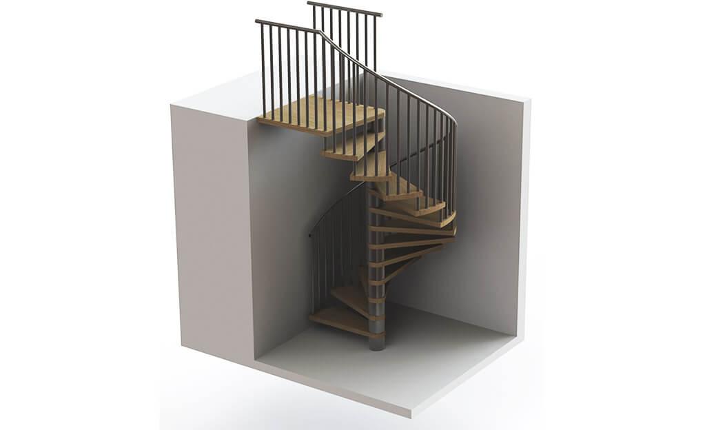 3D Floating Render Stairs