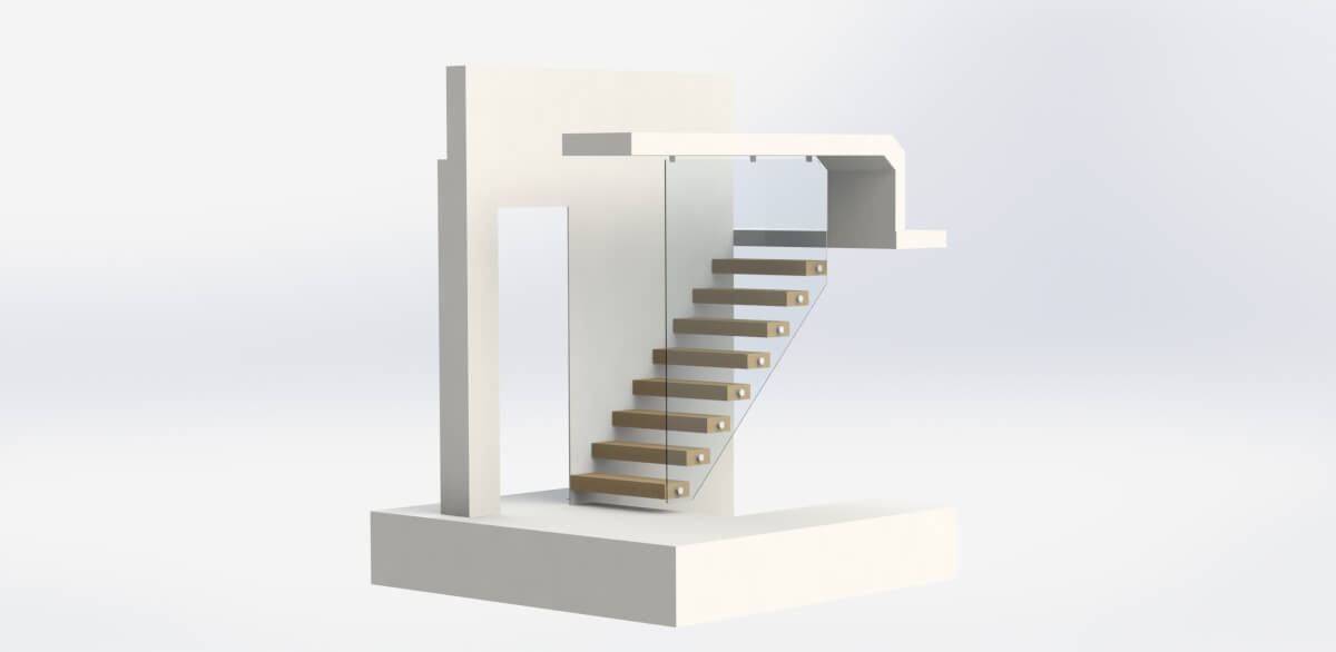 3D Max Floating starcases
