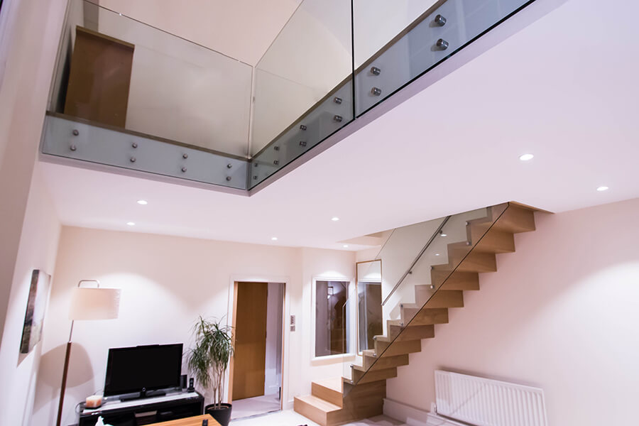 Wooden Zig Zag Stairs