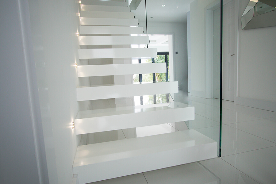 Clean Floating Stairs