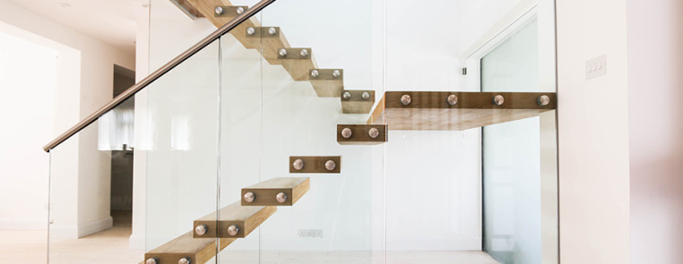 Modern interior home design - Project 12 Chic Floating Stairs