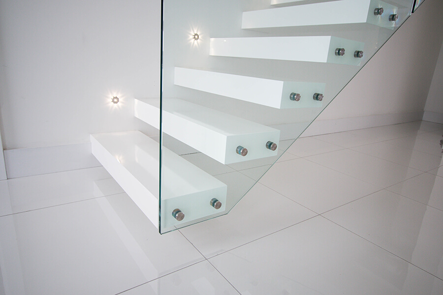 Railing London Floating Staircases White