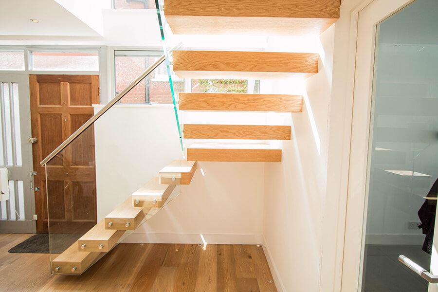 Railing London Floating Stairs Wood
