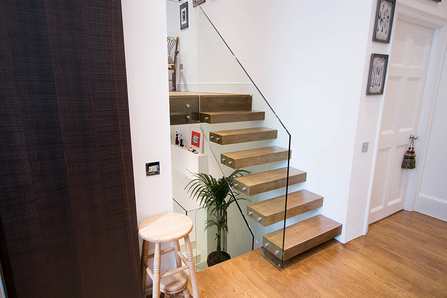 Wood Floating Staircases