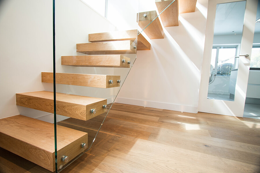 Wooden Floating Stairs House