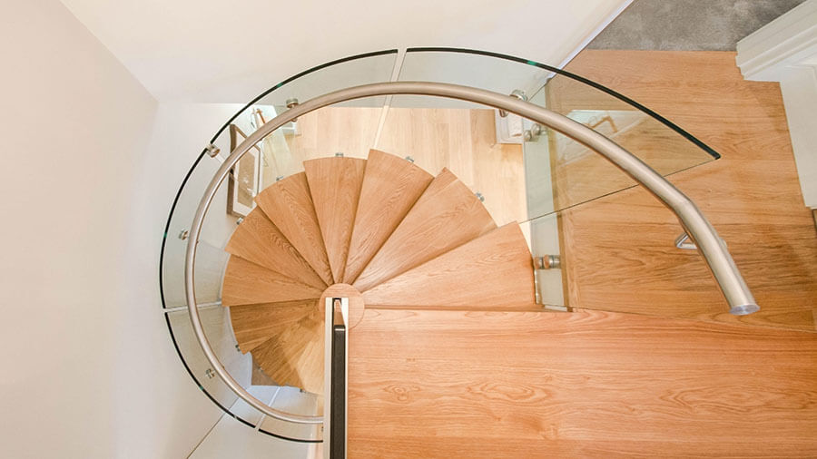 Glass Balustrade helical stairs