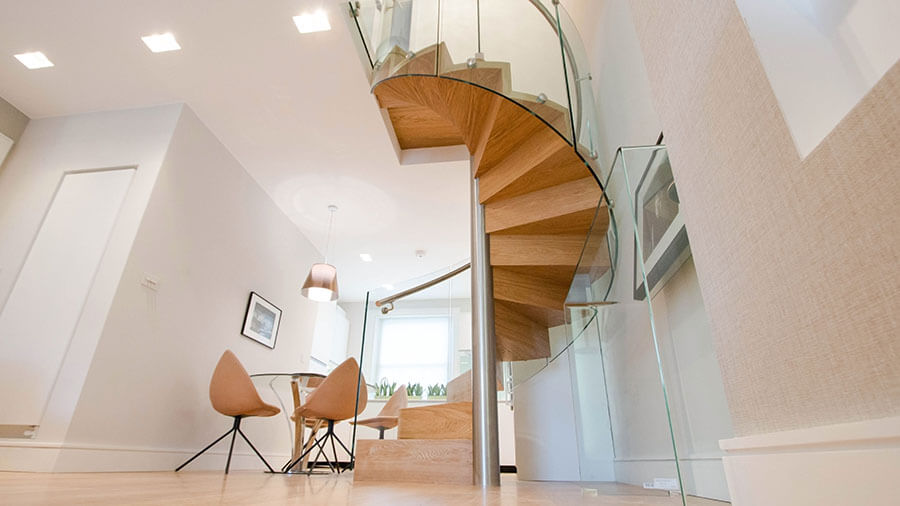 Lonfon helical stairs Wooden Treds