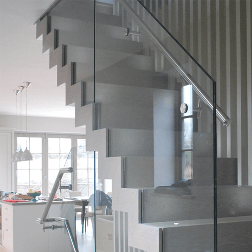 Zig Zag Staircases Design Oak And Glass Stairs Exclusive London