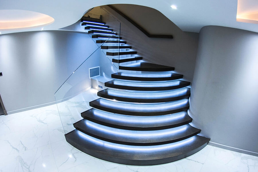 dark staircases floating