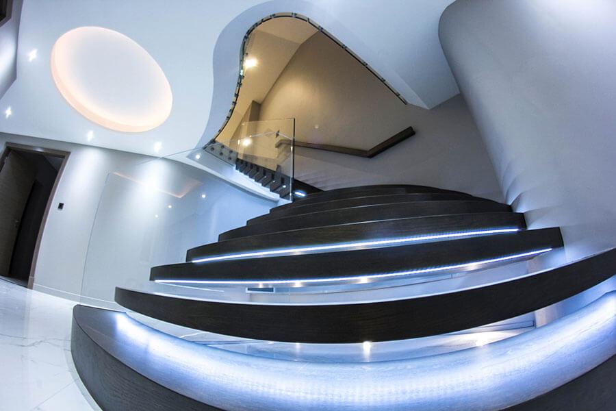 floating dark stairs