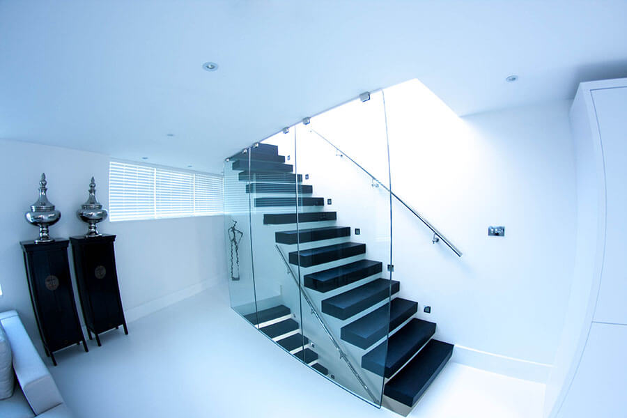 Luxary Staircases Floating Railing London