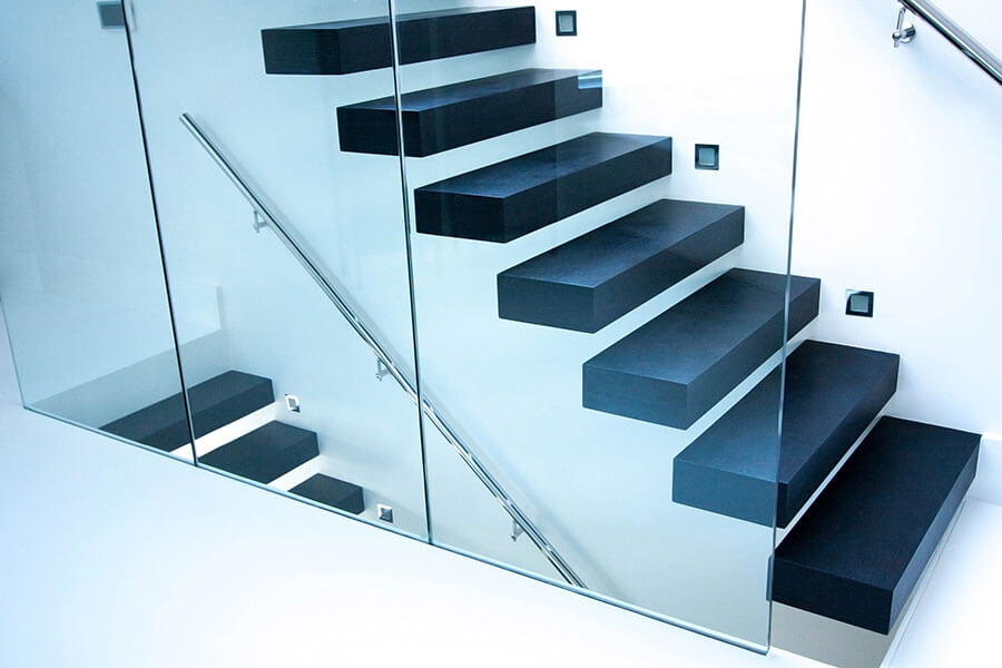 Modern Interior Floating Stairs