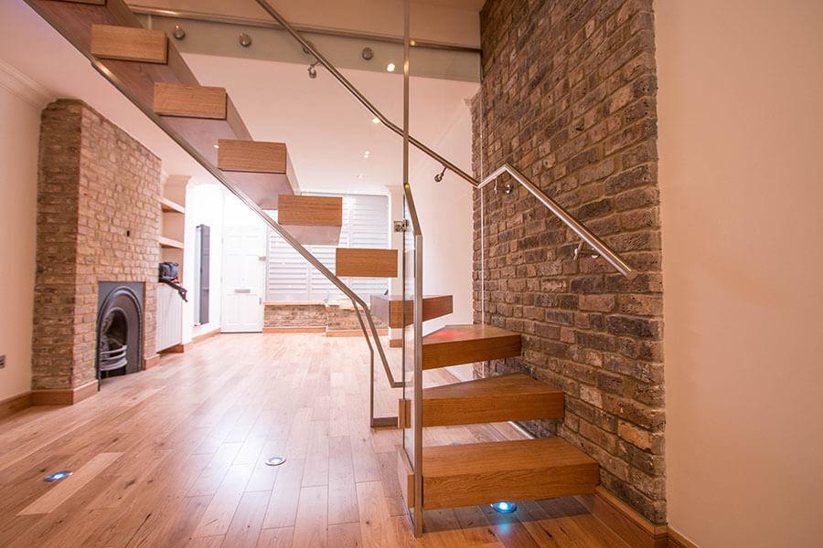Modern Warm Brown Stairs Railing London