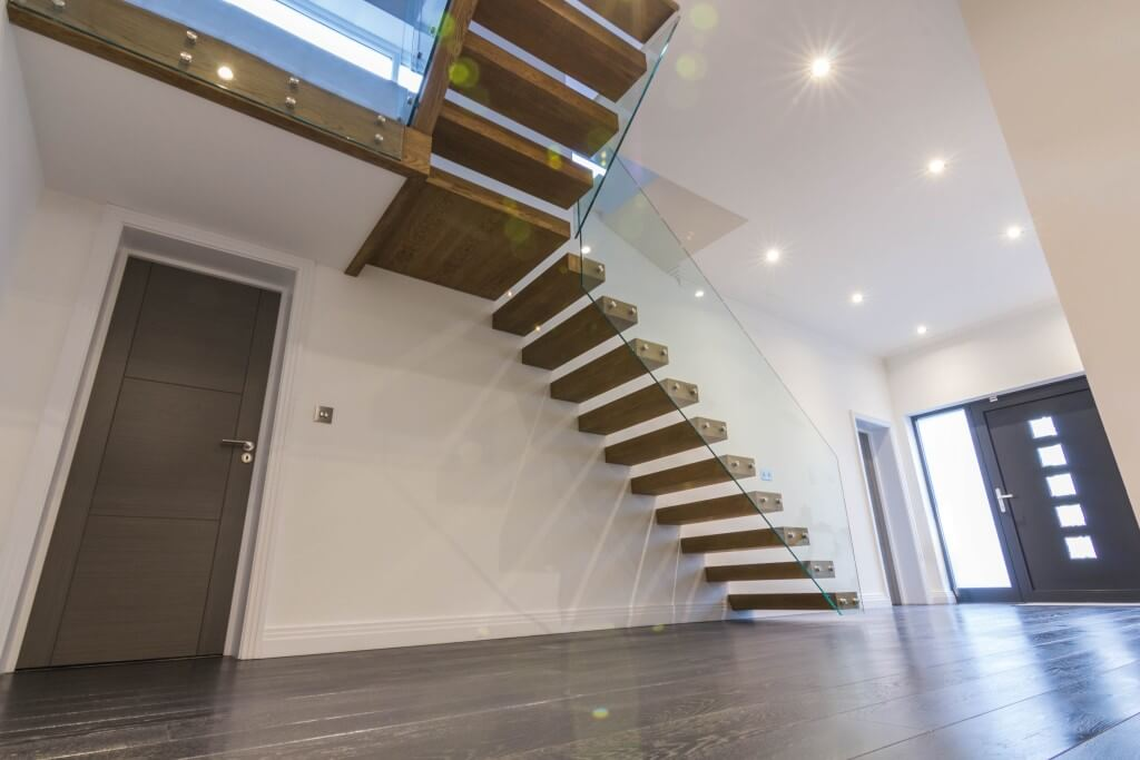 Project 28 Cantilevered Floating Treads Staircase With A